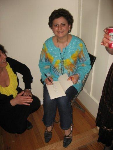At Joy Kogawa House_Signing my book 2
