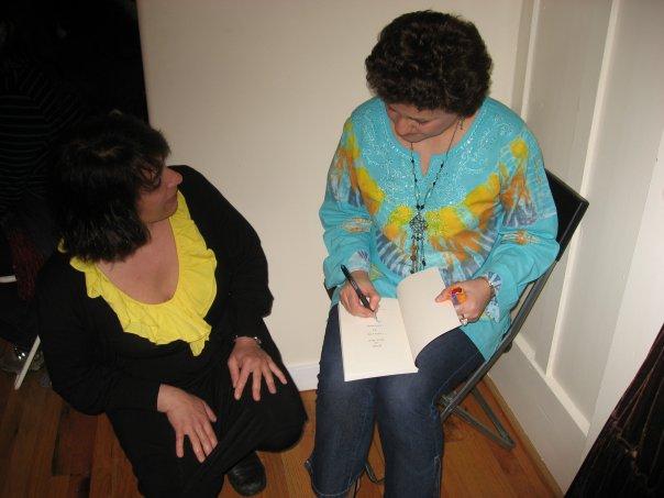 At Joy Kogawa House_Signing my book